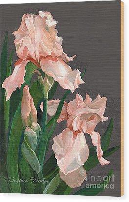 Iris Study Wood Print by Suzanne Schaefer