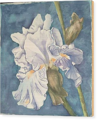 Iris Twenty One Wood Print