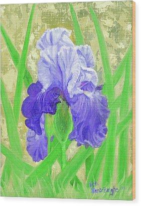 Iris Valor Wood Print