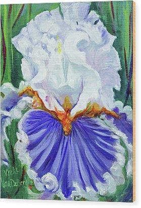 Iris Wisdom Wood Print