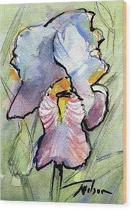 Iris With Impact Wood Print by Ron Wilson
