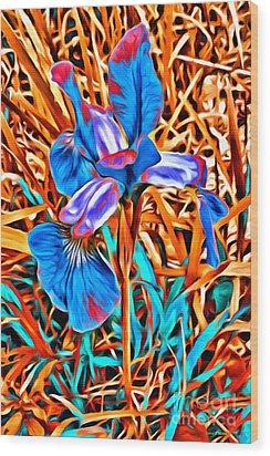 Iris Wow Wood Print