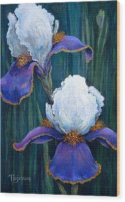 Irises Wood Print by Tanja Ware
