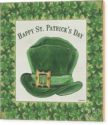 Wood Print featuring the painting Irish Cap by Debbie DeWitt
