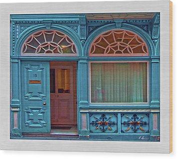 Wood Print featuring the digital art Irish Door by Hanny Heim
