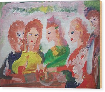 Irish Reunion Wood Print by Judith Desrosiers