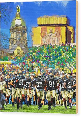 Irish Run To Victory Wood Print