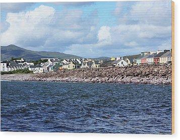Irish Seaside Village - Co Kerry  Wood Print