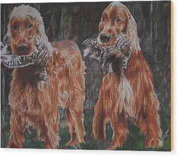 Irish Setters Wood Print by Darcie Duranceau