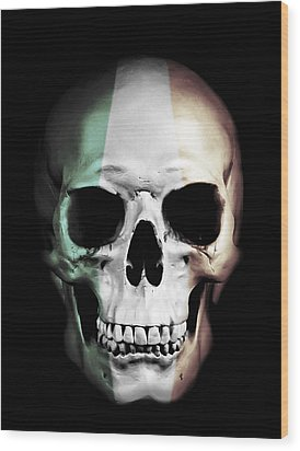 Wood Print featuring the digital art Irish Skull by Nicklas Gustafsson