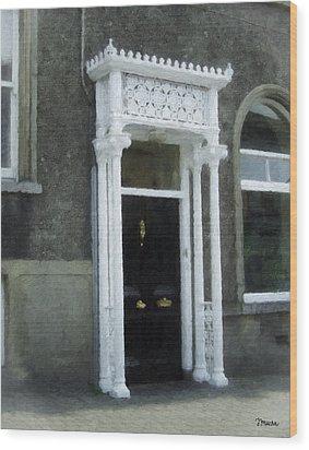 Irish Solicitors Door Wood Print by Teresa Mucha
