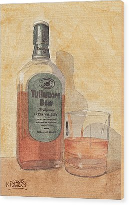 Irish Whiskey Wood Print by Ken Powers