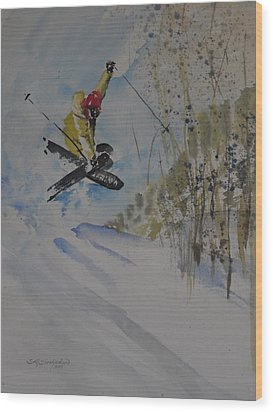 Iron Cross At Beaver Creek Wood Print by Sandra Strohschein