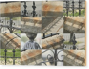 Iron Fence Wood Print by Robert Glover