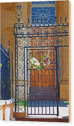 Wood Print featuring the photograph Iron Gate by Donna Bentley
