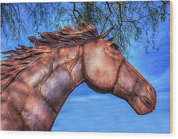 Wood Print featuring the photograph Iron Horse by Paul Wear