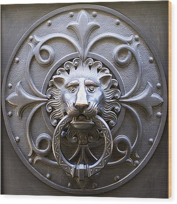 Iron Lion Wood Print by Rob Tullis