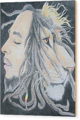 Iron Lion Zion Wood Print