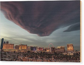 Iron Maiden Las Vegas Wood Print