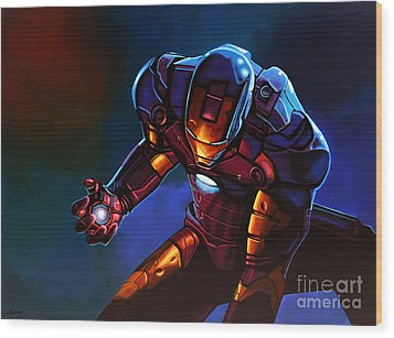 Iron Man Wood Print by Paul Meijering