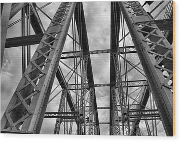 Iron Work Wood Print by Russell Todd