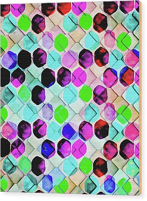 Irregular Hexagon Wood Print by Uma Gokhale
