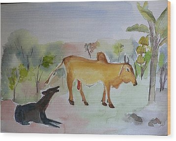 Wood Print featuring the painting Irresistible  by Geeta Biswas