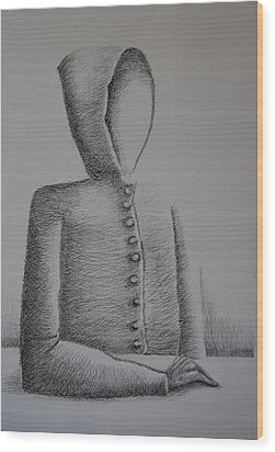 Is Ego Just An Empty Shell Wood Print by Tanni Koens