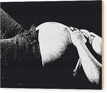 Is It Time Yet Wood Print by Kimberly Camacho
