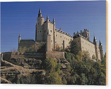 Isabella's Castle In Segovia Wood Print