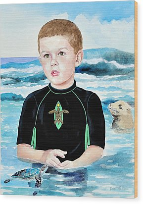 Isaiah Son Of Neptune Wood Print