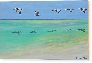 Islamorada Five Wood Print by Anne Marie Brown