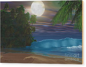 Island Beach Wood Print by Corey Ford
