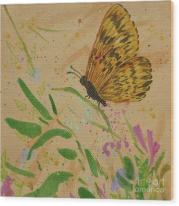 Island Butterfly Series 4 Of 6 Wood Print