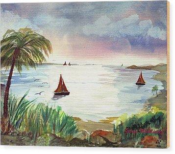 Island Of Dreams Wood Print by George Markiewicz
