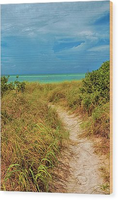 Island Path Wood Print by Swank Photography
