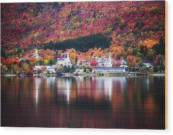 Island Pond Vermont Wood Print