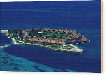 Island Prison Wood Print by Skip Willits