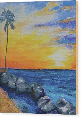 Wood Print featuring the painting Island Time by Stephen Anderson