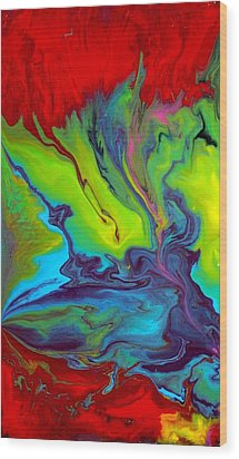 Island Tropicale Diptych I Wood Print by Holly Anderson