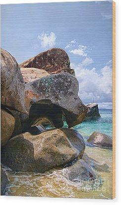 Island Virgin Gorda The Baths Wood Print
