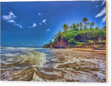 Island Wave Wood Print