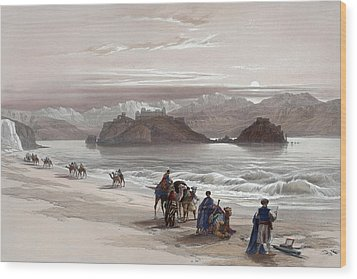 Isle Of Graia Gulf Of Akabah Arabia Petraea Feby 27th 1839 Wood Print by Munir Alawi