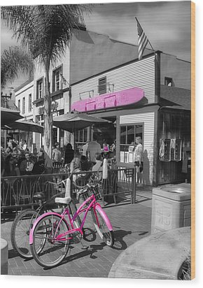 Isn't She Pretty In Pink Wood Print by Rich Beer