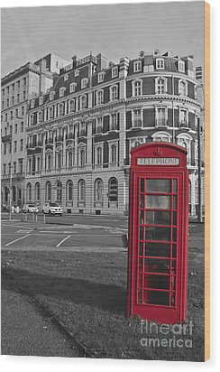 Isolated Phone Box Wood Print