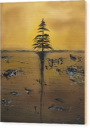 Isolation Wood Print by Rob Tullis