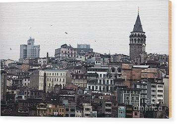 Istanbul Buildings Wood Print by John Rizzuto