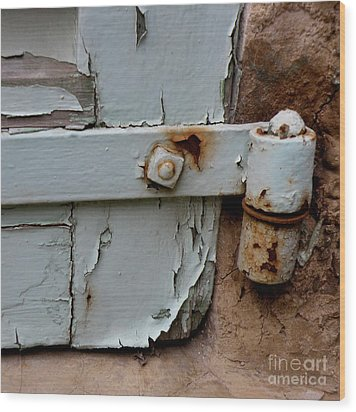 It All Hinges On Wood Print by Lainie Wrightson