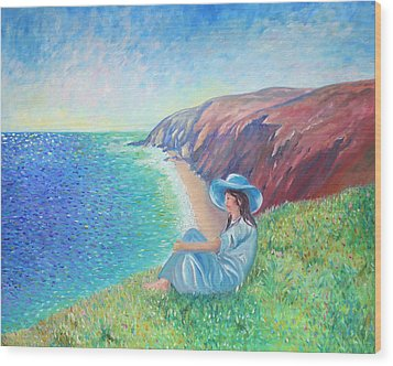 Wood Print featuring the painting It Could Be Me by Elizabeth Lock