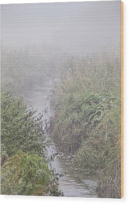 Wood Print featuring the photograph It Flows From The Mist by Odd Jeppesen
